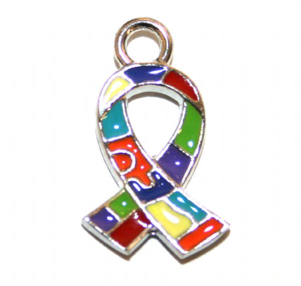 Autism awareness - Jigsaw charm - 16mm x 10mm